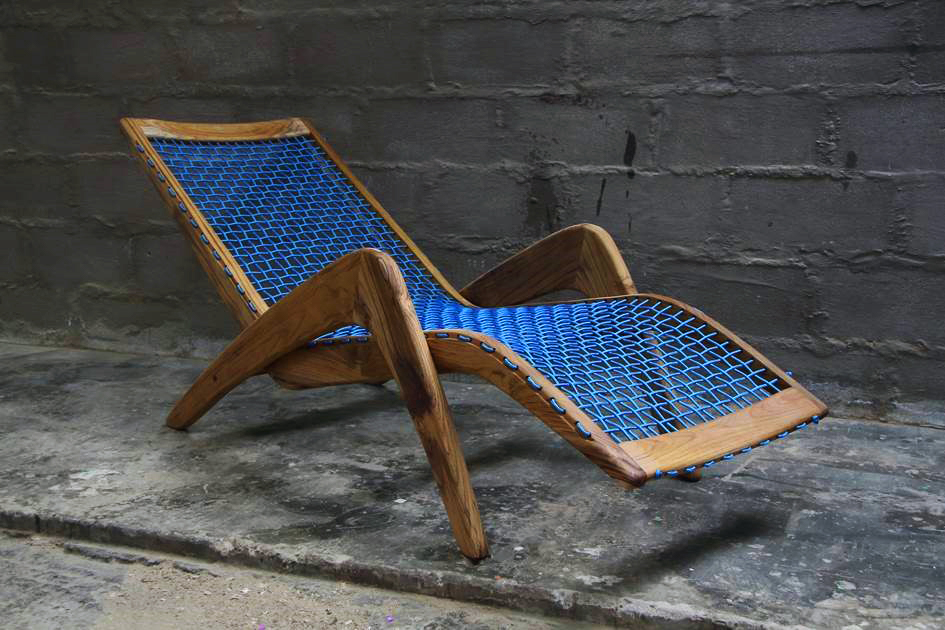 Homewood Imbiza lounger with blue roping